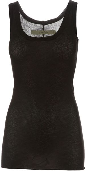 Enza Costa Vest Top in Black - Lyst