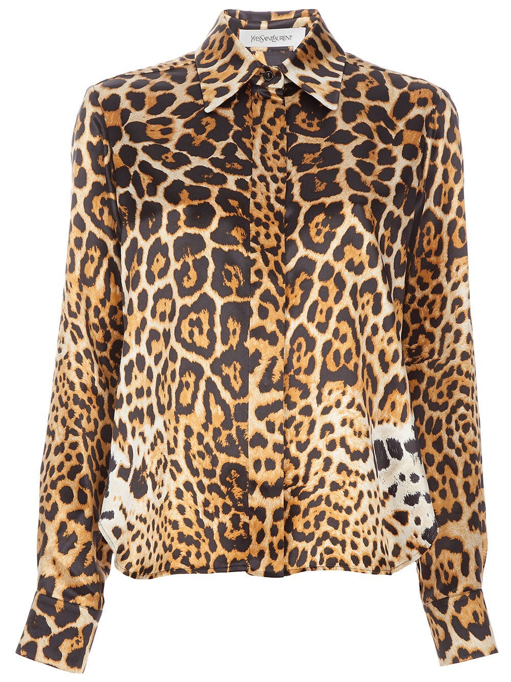 Animal Print Manicure: Saint Laurent Leopard Print T-shirt In Animal (BROWN)