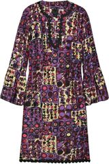 Anna Sui Printed Silk Tunic Dress - Lyst