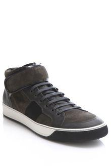 Lanvin Suede High-top Trainers - Lyst