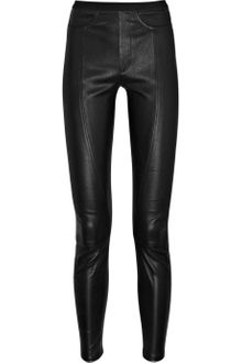 Helmut Lang Cropped Leather Pants - Lyst