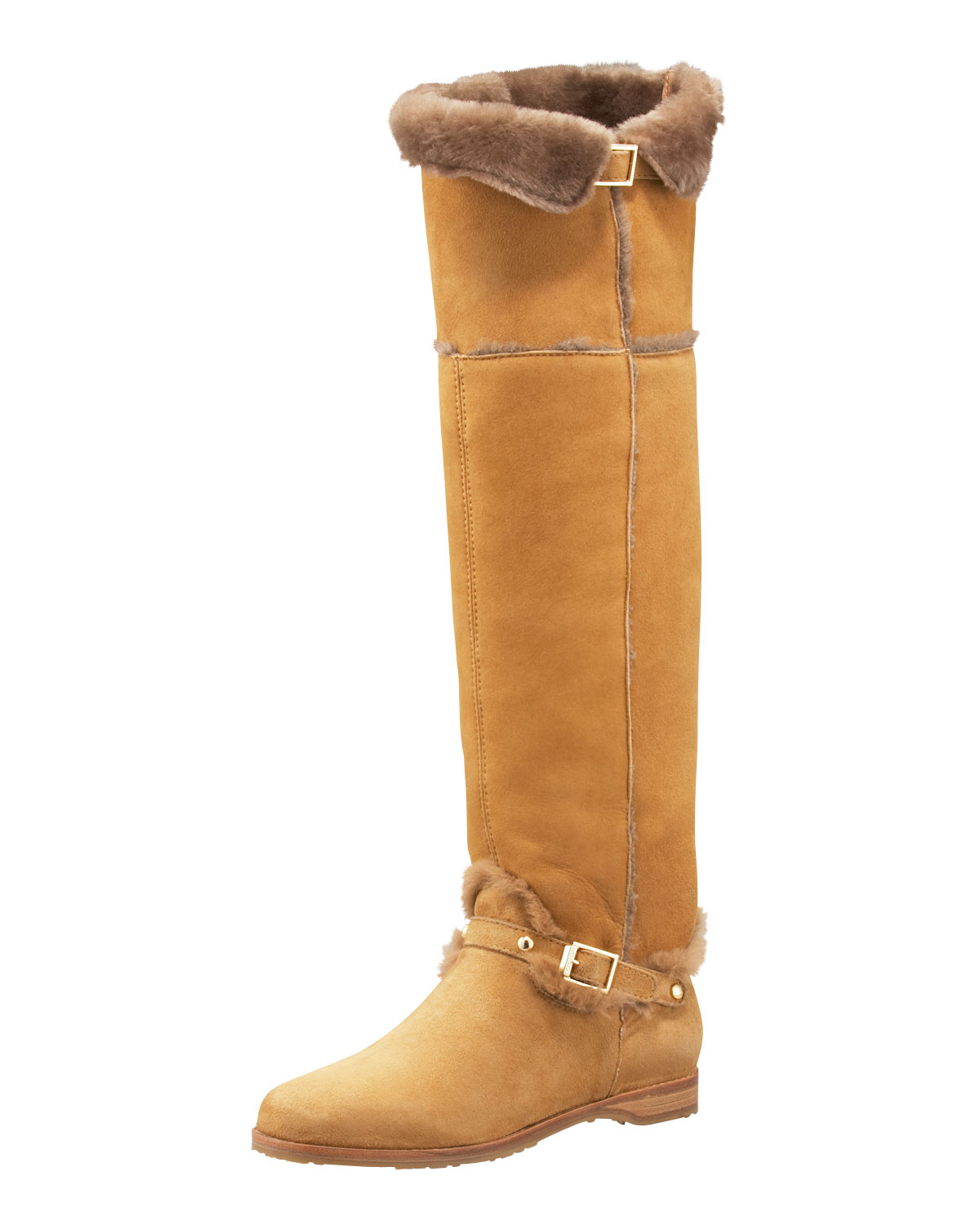 6846a25ec69 Lyst - Jimmy Choo Napa Shearling Over-the-knee Boot in Brown