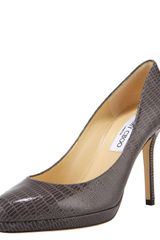Jimmy Choo Snake-print Leather Platform Pump - Lyst