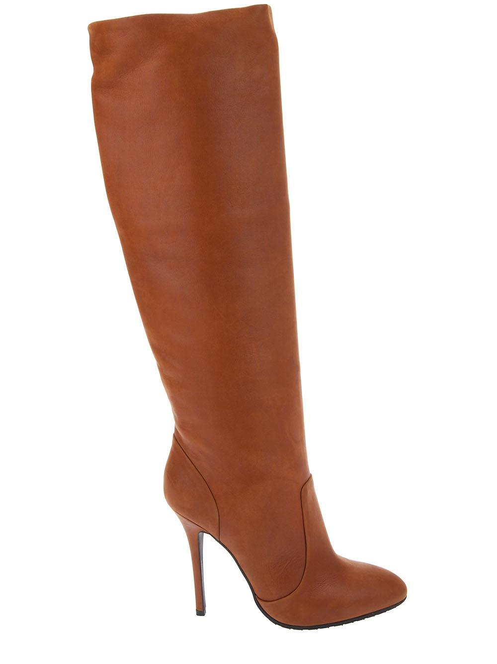 giuseppe zanotti knee high boot in brown lyst