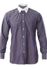 Hardy Amies Contrast Collar Washed Shirt - Lyst