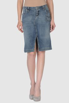 Versace Jeans Couture Denim Skirt - Lyst