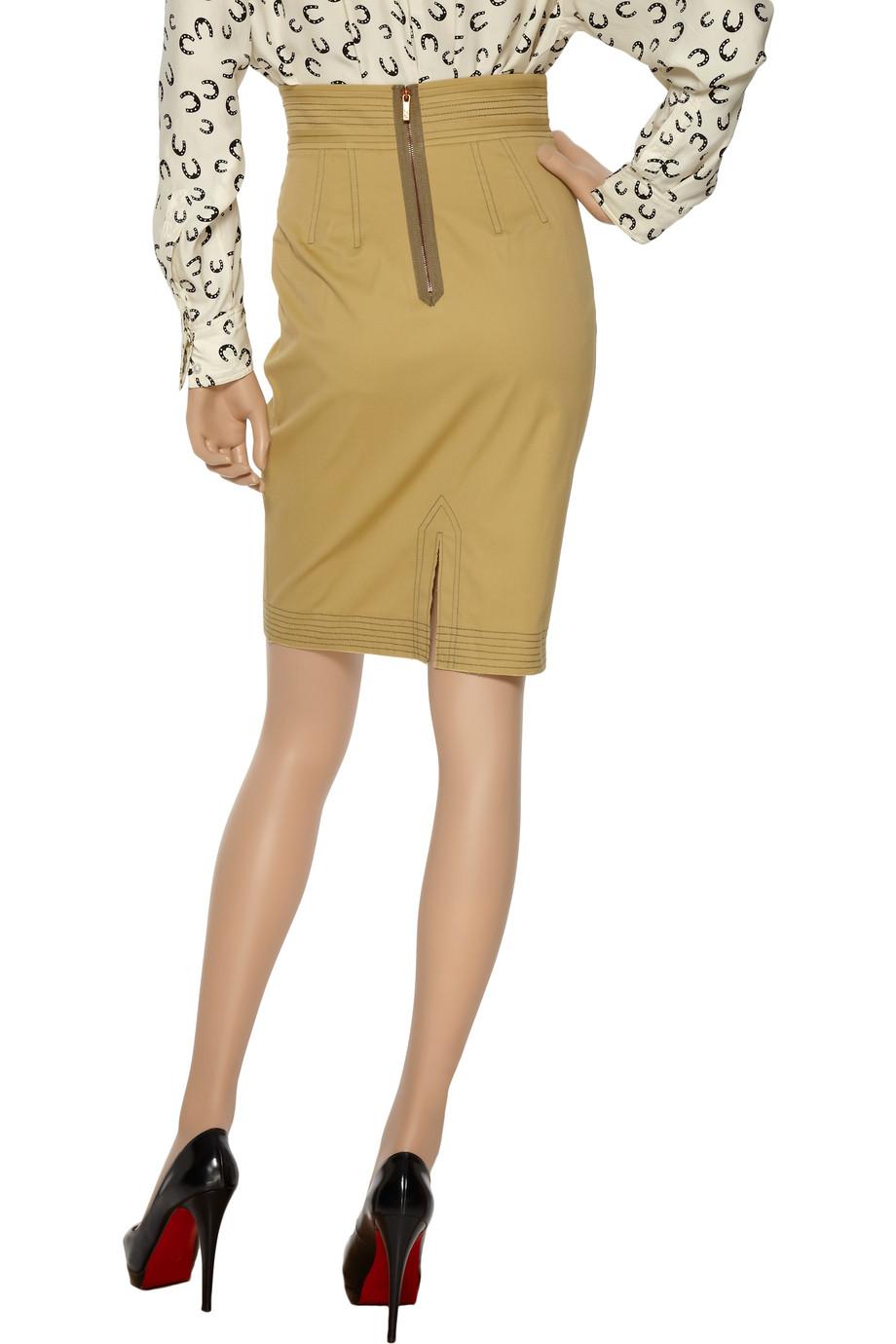 a765e61819 Z Spoke by Zac Posen Cotton-blend Pencil Skirt in Yellow - Lyst