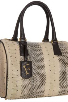 Furla Coffee Snake Embossed Leather D-light Bauletto Bag - Lyst