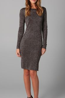 Alice + Olivia Lurex Knit Slim Dress - Lyst