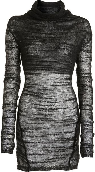 Helmut Lang Sheer Knit Sweater - Lyst