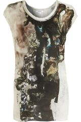 Helmut Lang Printed Sleeveless Top - Lyst