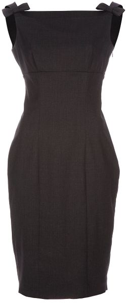 Dsquared2 Pencil Dress in Gray (grey) - Lyst