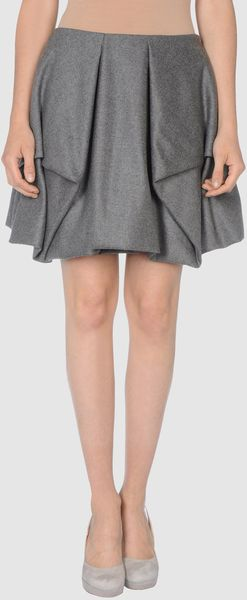 Alexander McQueen Knee Length Skirt - Lyst
