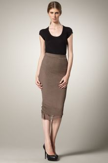 Alice + Olivia Mid-calf Pencil Skirt - Lyst