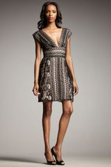Bianca Nero V-neck Crochet Dress - Lyst