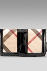 Burberry Check Wallet, Large - Lyst