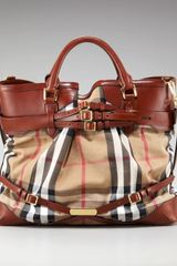 Burberry Check Tote, Large - Lyst