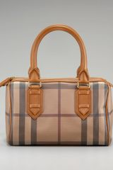 Burberry Smoked Check Bowling Bag - Lyst
