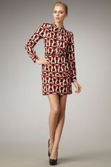 Diane Von Furstenberg Tunisa Chain-print Dress - Lyst