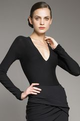 Donna Karan New York Plunge Bodysuit - Lyst