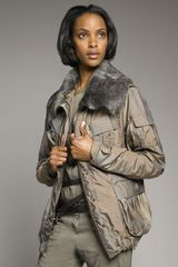 Donna Karan New York Shearling-collar Parka - Lyst