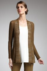Eileen Fisher Ribbed Play Cardigan - Lyst