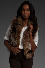 Elizabeth And James Elizabeth Reversible Fur Vest - Lyst