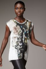 Helmut Lang Carrion Printed Silk Top - Lyst