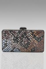Judith Leiber Diamond-pattern Box Clutch - Lyst
