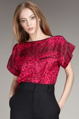 Marc By Marc Jacobs Animal-print Silk Top - Lyst