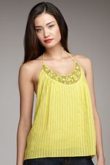 Milly Beaded Halter Top - Lyst