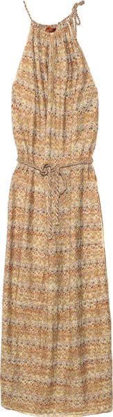 Missoni Camargue Crochetknit Maxi Dress in Brown - Lyst