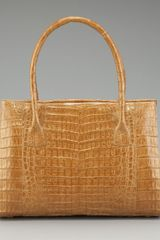 Nancy Gonzalez Metallic Crocodile Tote - Lyst