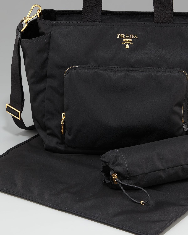 italy lyst prada vela baby bag in black dd549 72f66 392f0eb2f8484