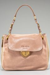 Prada Glace Calf Coated Open-top Hobo - Lyst