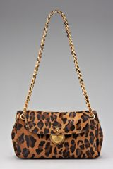 Prada Cavallino Leopardprint Hair Calf Chain Bag in Animal (leopard) - Lyst