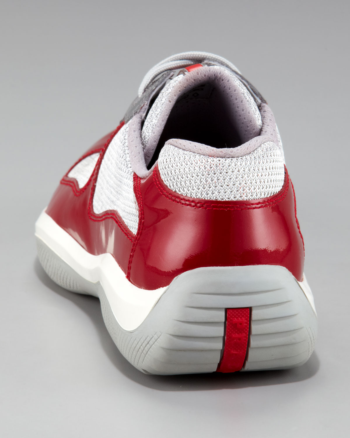 Prada Patent Leather Sneaker In Red For Men Lyst