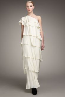 Rachel Zoe Tiered Silk Gown - Lyst