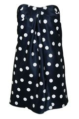 Sea Strapless Navy Polka Dress - Lyst
