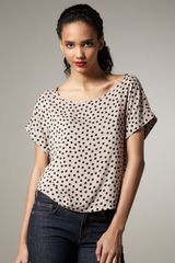 Splendid Polka-dot Top - Lyst
