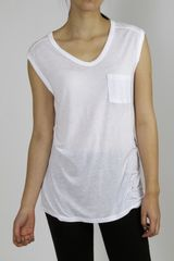 T By Alexander Wang Muscle Tee - White - Lyst