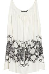 Thomas Wylde Wounded Printed Silk Trapeze Top - Lyst