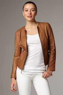 Vince Vintage Leather Jacket - Lyst