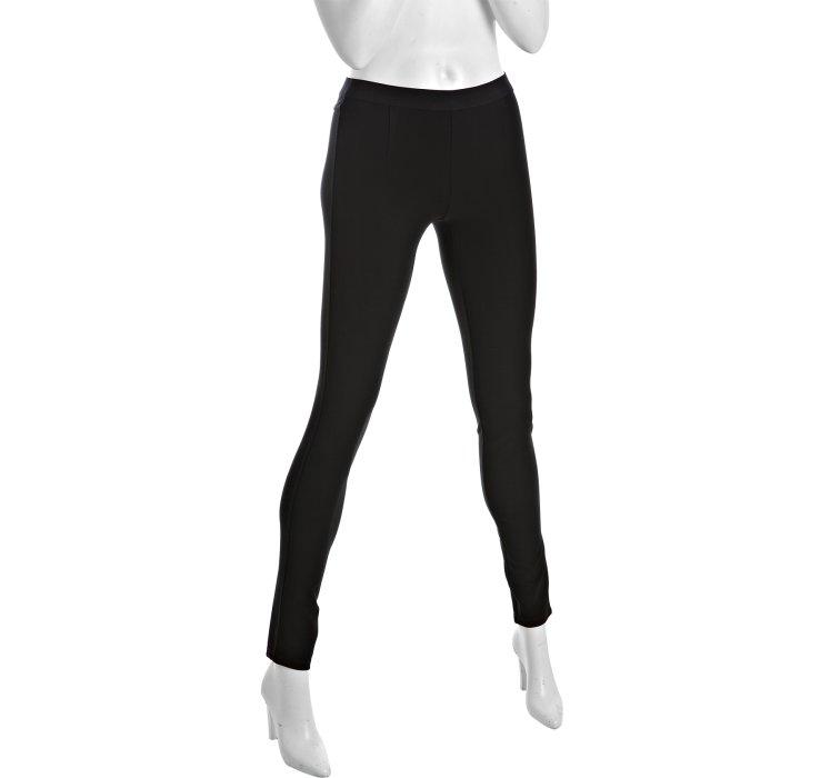Theory Black Stretch Knit Kia Skinny Leg Pants in Black | Lyst