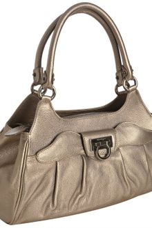 Ferragamo Metallic Skin Leather Armonia Shopper Tote - Lyst