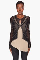 Haute Hippie Beaded Crochet Cardigan - Lyst