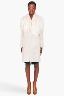 Maison Martin Margiela Mixed Fur Coat - Lyst