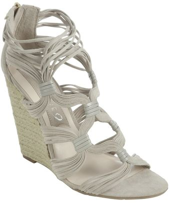 Boutique 9 Light Grey Strappy Suede Chichi Espadrilles - Lyst