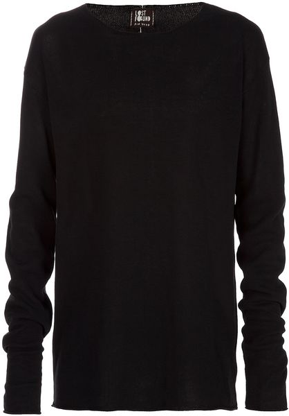 Lost And Found Long Sleeved Sweater in Black for Men - Lyst