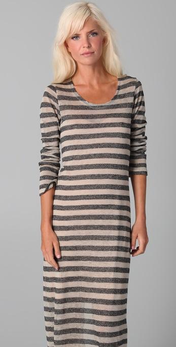 Nightcap clothing linen stripe maxi dress